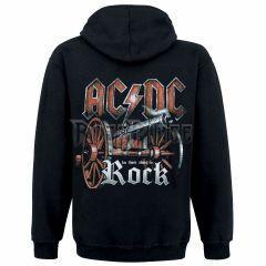 c9f165f0b9 AC/DC - Rock cipzáras kapucnis pulóver