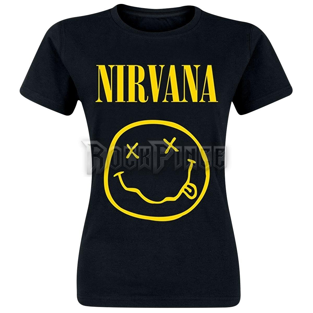58dc2f6e59 NIRVANA - SMILEY - női póló - Rockpince