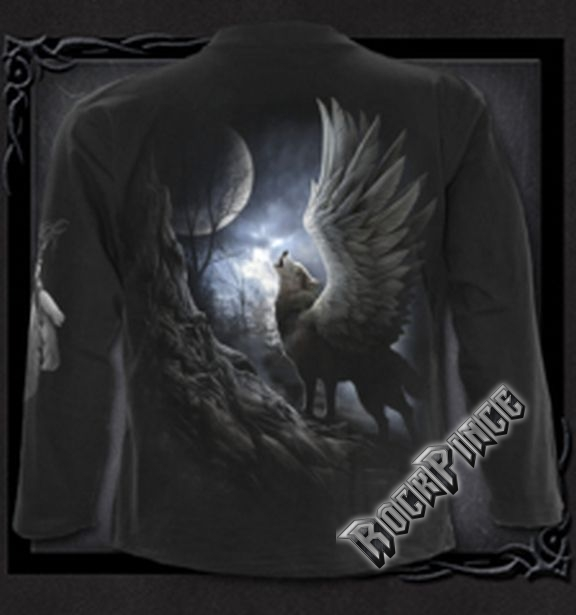 LYCOS WINGS - Longsleeve T-Shirt Black - T104M301