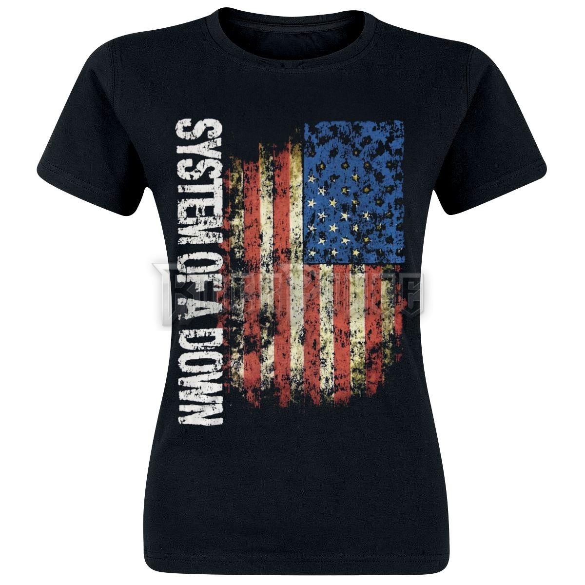 System Of A Down - US Flag - NŐI PÓLÓ