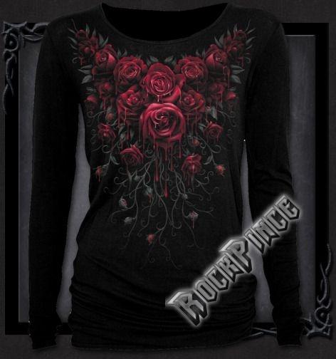 BLOOD ROSE - Baggy Top Black - K018F440