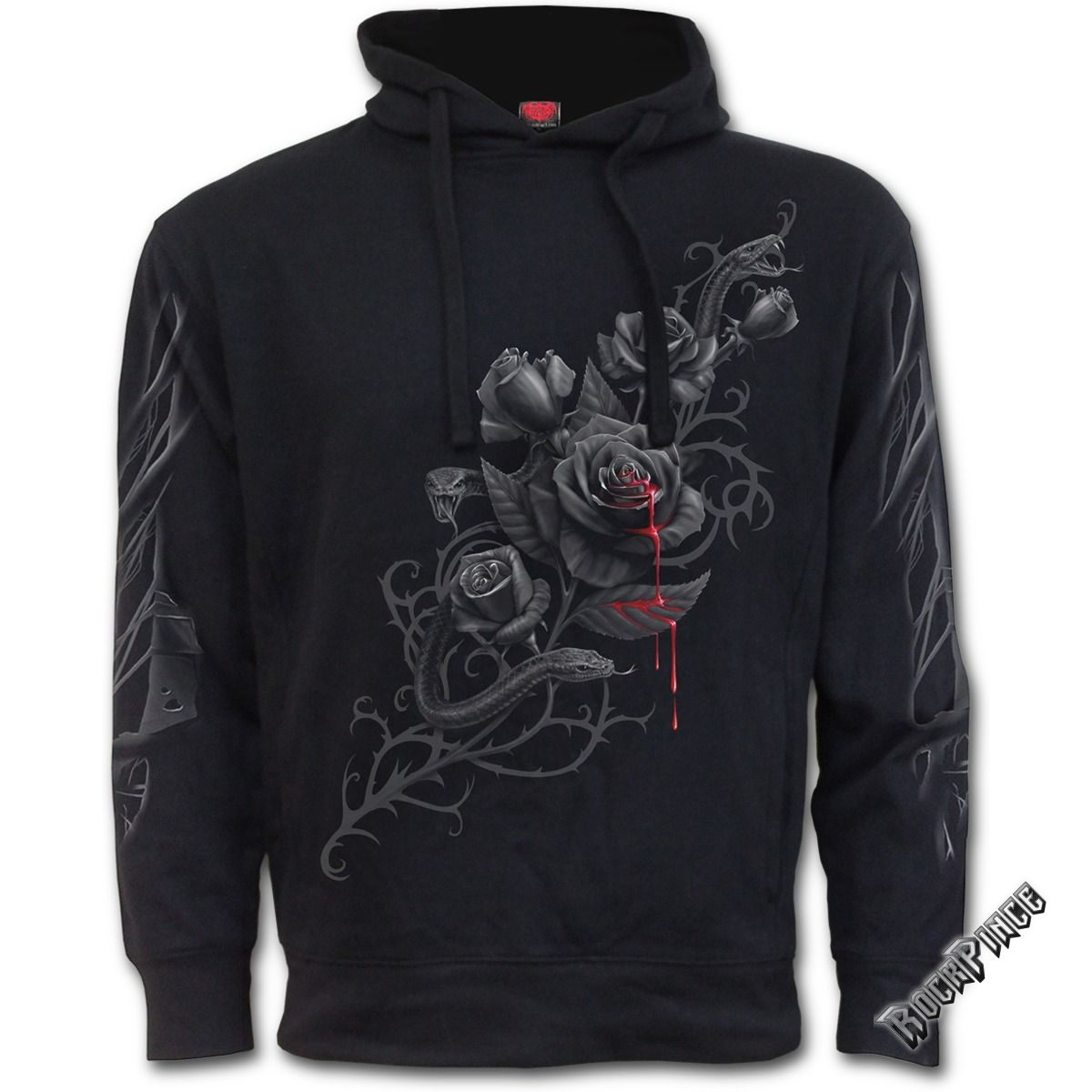FATAL ATTRACTION - Side Pocket Stitched Hoody Black (Plain) - D061F272