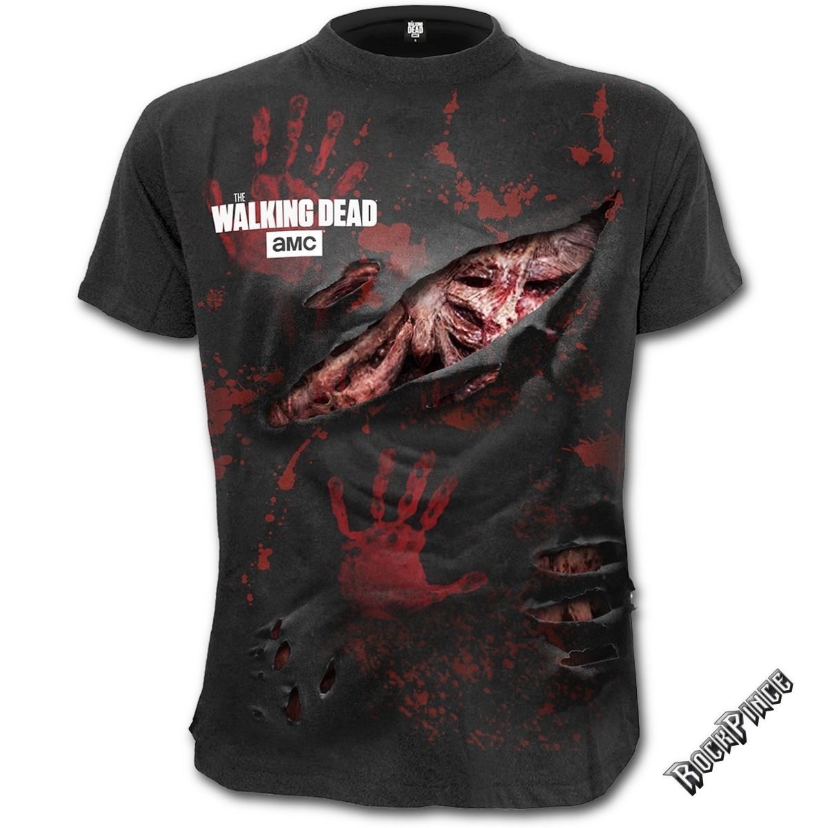 The Walking Dead - DARYL - ALL INFECTED - Ripped T-Shirt Black (Plain) - G001M125
