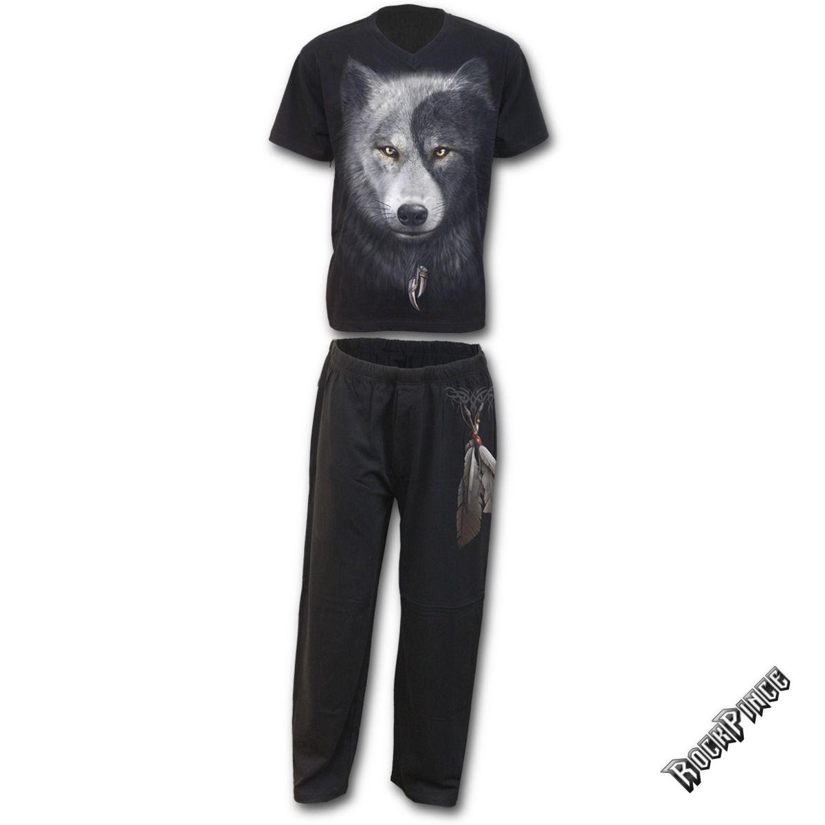 WOLF CHI - 4pc Mens Gothic Pyjama Set - T118M631