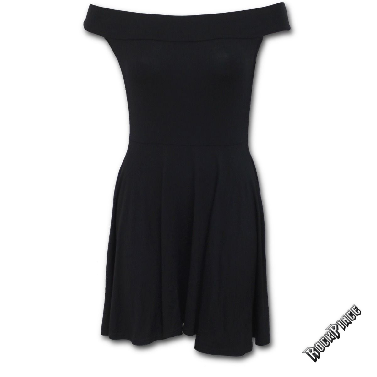 URBAN FASHION - Bardot Neck Skater Dress (Plain) - P004G068