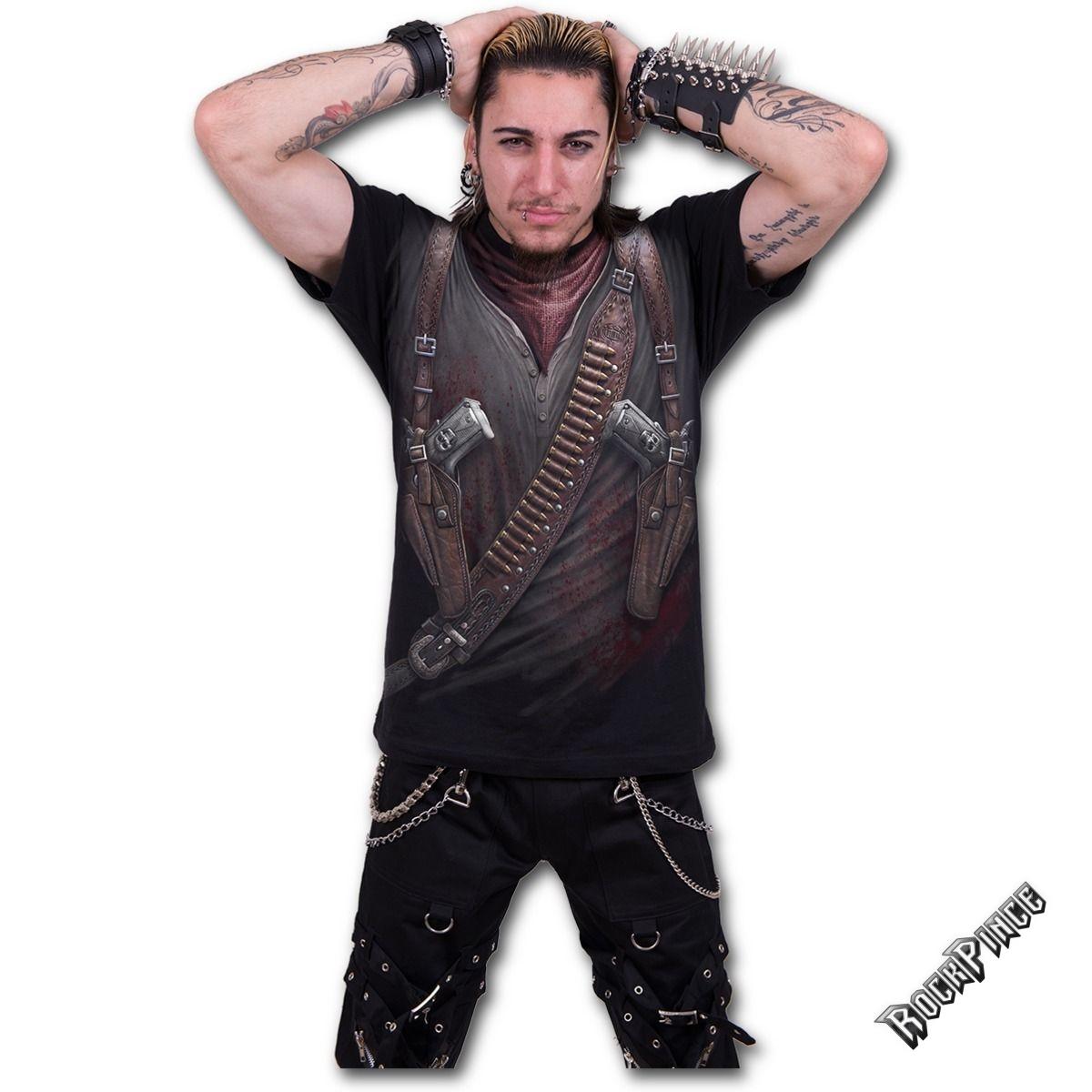 HOLSTER WRAP - Allover T-Shirt Black - W022M105