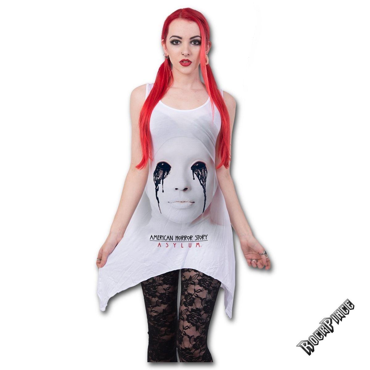 ASYLUM - WHITE NUN - AHS Goth Bottom Vest Dress White - G053F136
