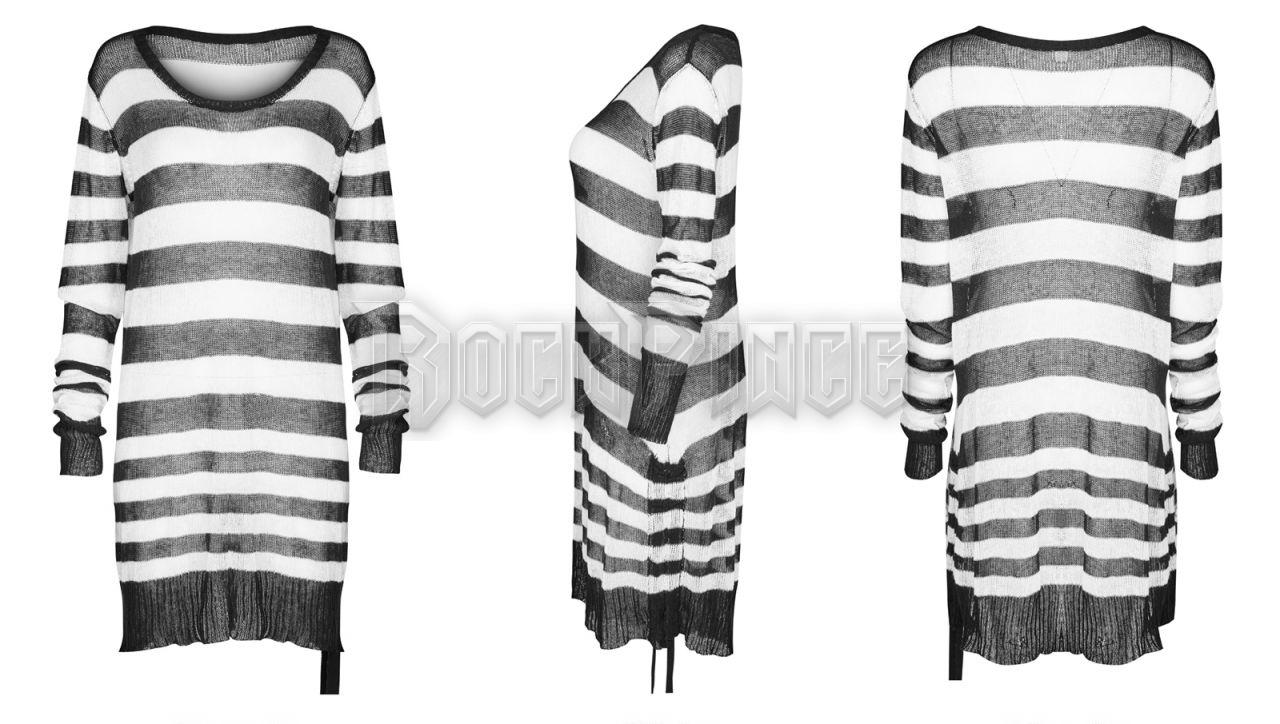 INSANITY - női pulóver OPM-074-WH-BK