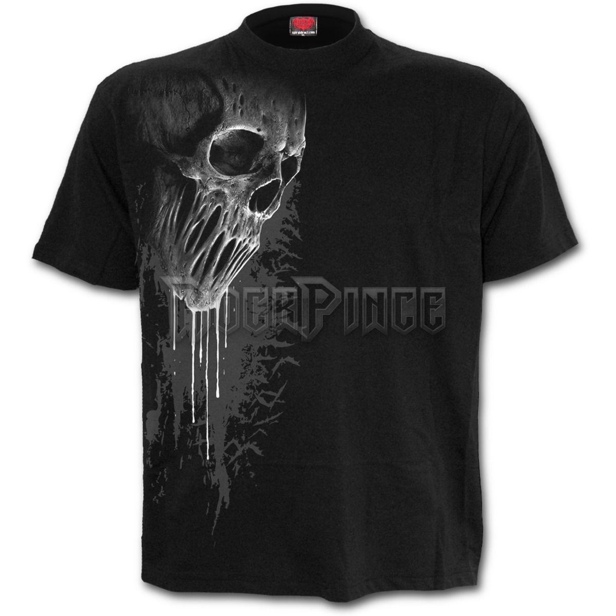 BAT CURSE - Front Print T-Shirt Black - E026M121