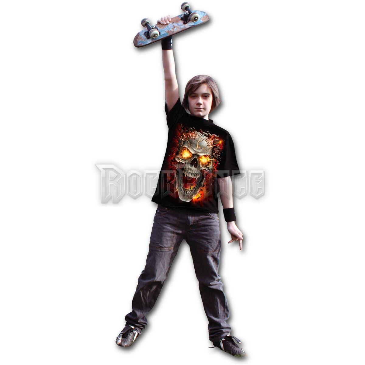 SKULL BLAST - Kids T-Shirt Black (Plain) - T152K101