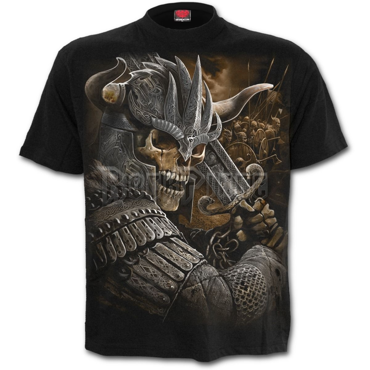 VIKING WARRIOR - T-Shirt Black - L040M101