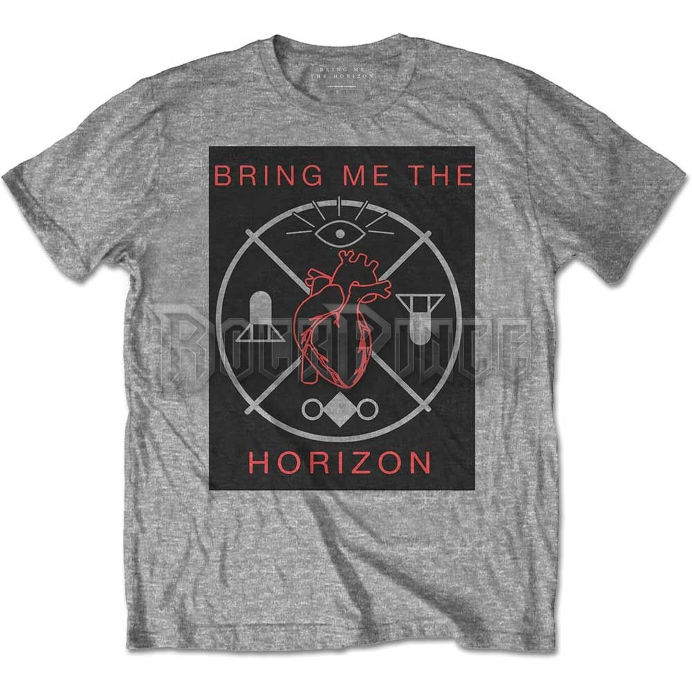 Bring Me The Horizon férfipóló - Heart   Symbols - BMTHTS59MG be02810be6
