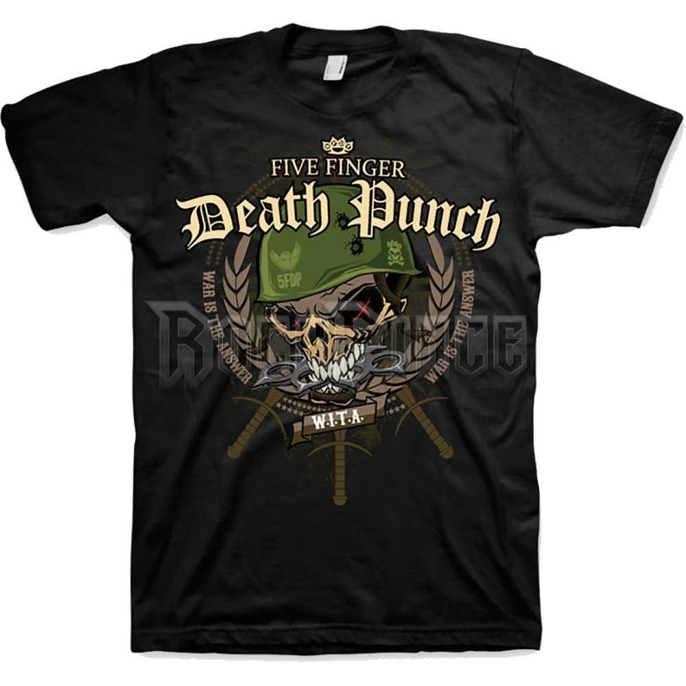 Five Finger Death Punch férfipóló - War Head - FFDPTS0404MB