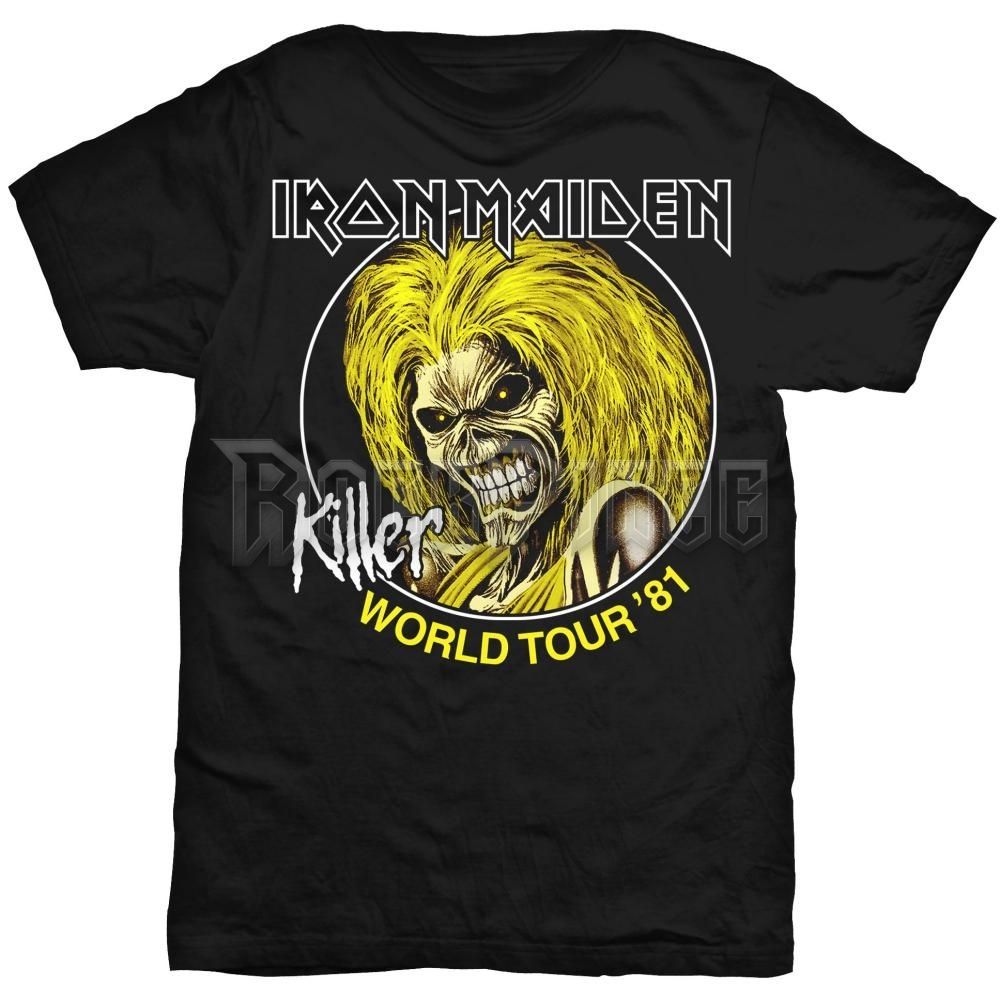 Iron Maiden férfipóló - Killer World Tour 81 - IMTEE43MB