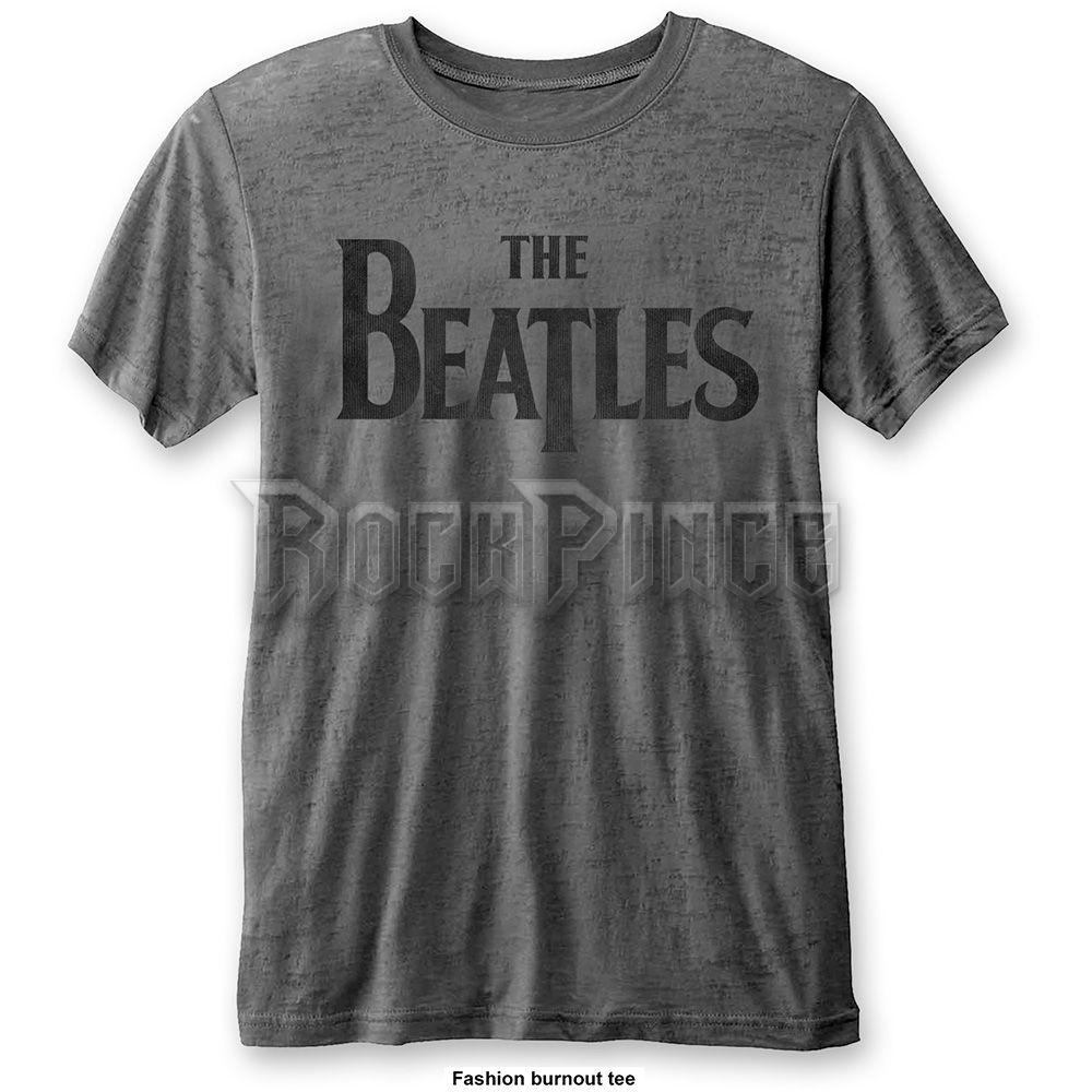 The Beatles Férfipóló: Drop T Logo (fakított) - BEATBO02MC