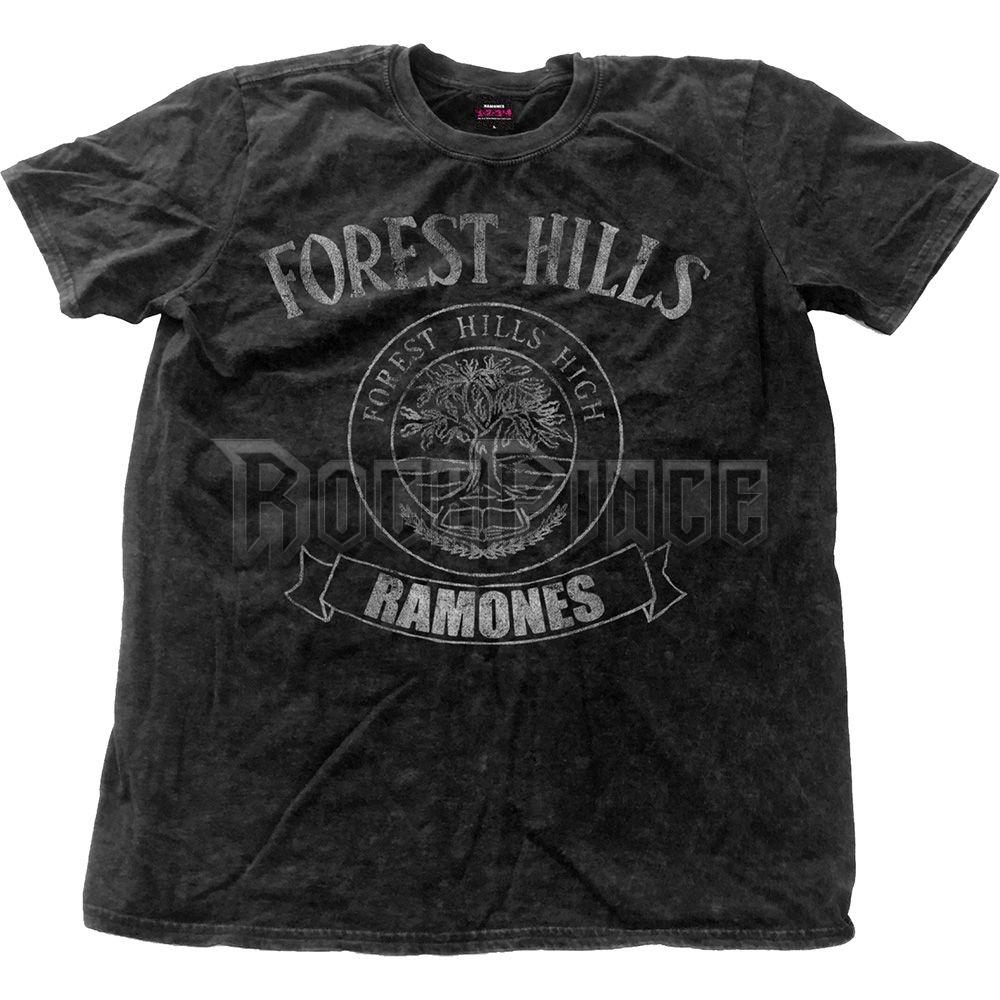 Ramones Férfipóló: Forest Hills Vintage (Snow Wash) - RASWASH01MB