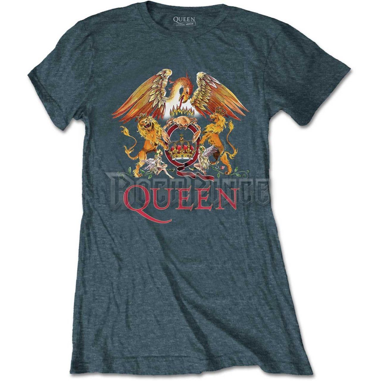 Queen Női Póló: Classic Crest - QUTS03LH