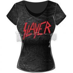 6af1688a8ef5 Slayer Női Póló: Classic Logo with Acid Wash Finish - SLAYTEE22LAW