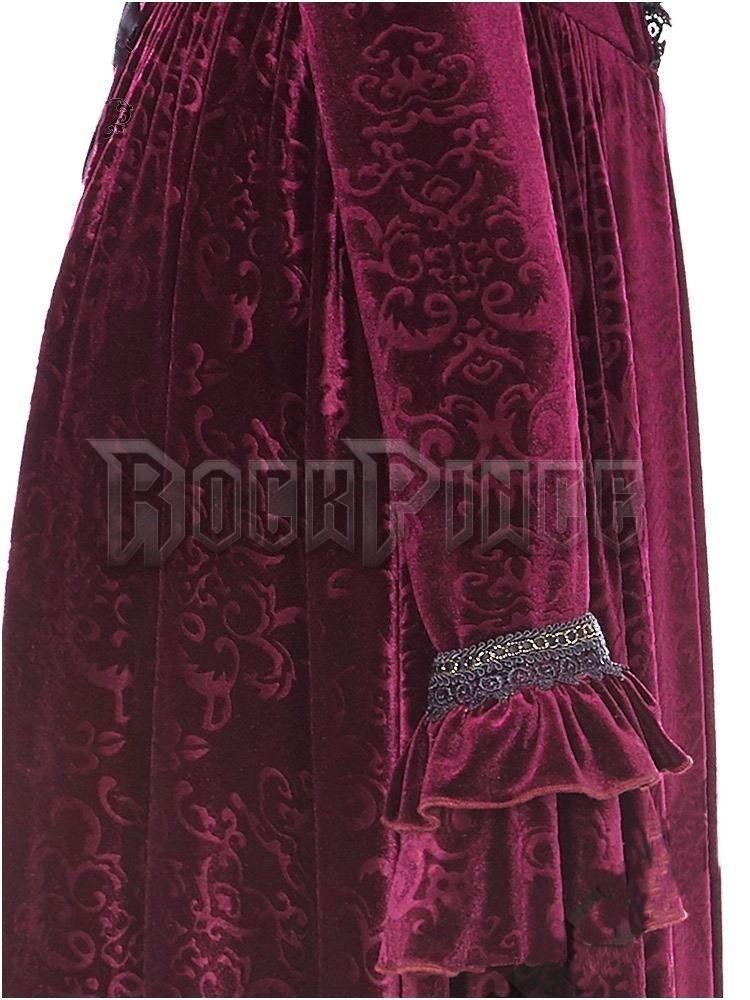 VAMPIRE QUEEN - bársony ruha WQ-360-RD