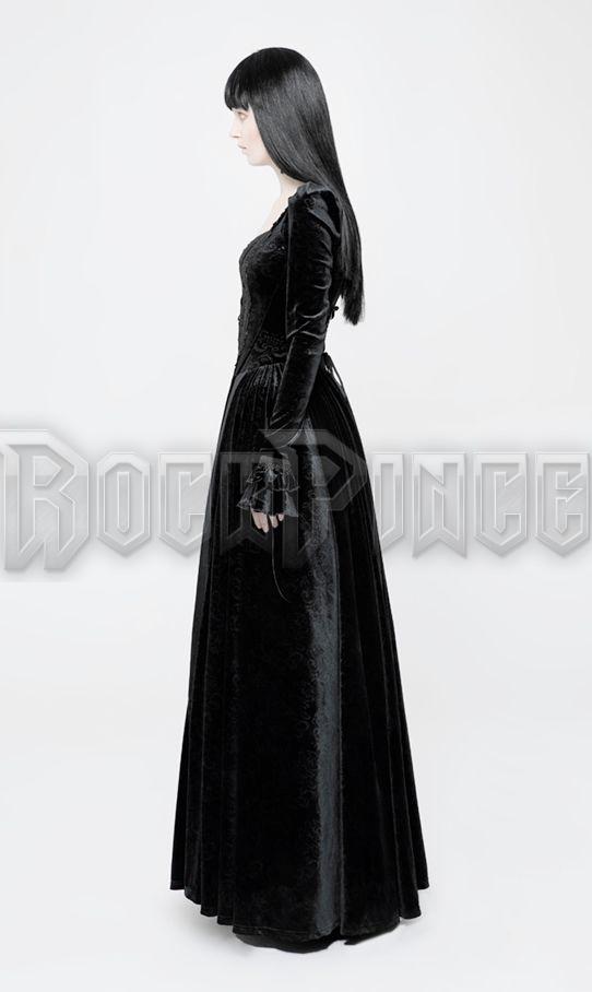 VAMPIRE QUEEN - bársony ruha WQ-360-BK