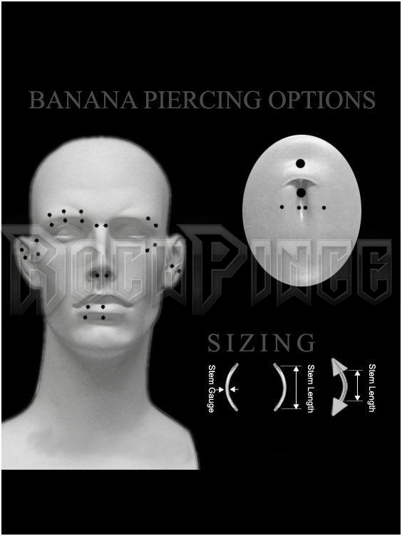 Steel ball banana - piercing MBN