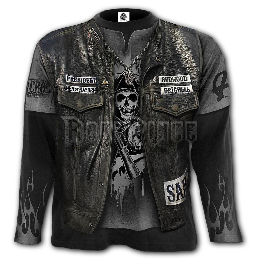 JAX WRAP - Allover Longsleeve T-Shirt Black - G101M304
