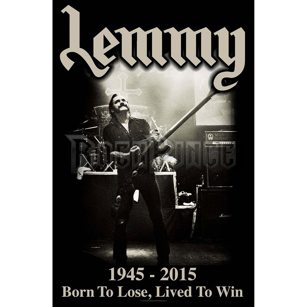 Lemmy Textile Poster: Lived to Win - TP150