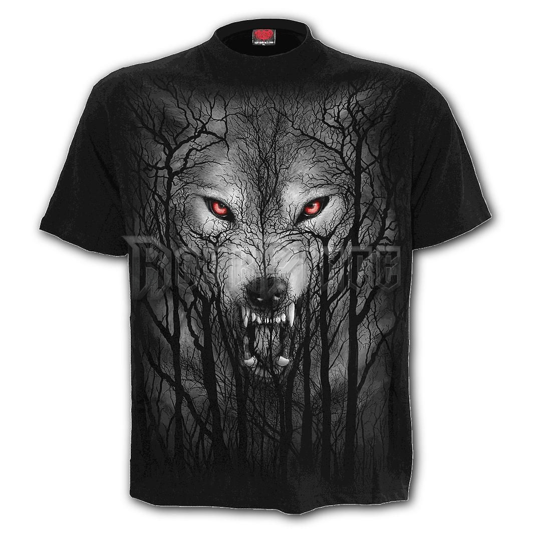 FOREST WOLF - T-Shirt Black - E030M101