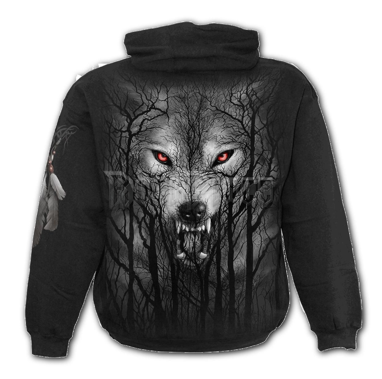 FOREST WOLF - Hoody Black (Plain) - E030M451