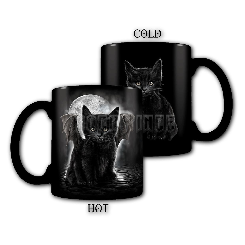 BAT CAT - Heat Change Ceramic Coffee Mug - Gift Boxed - F015A007
