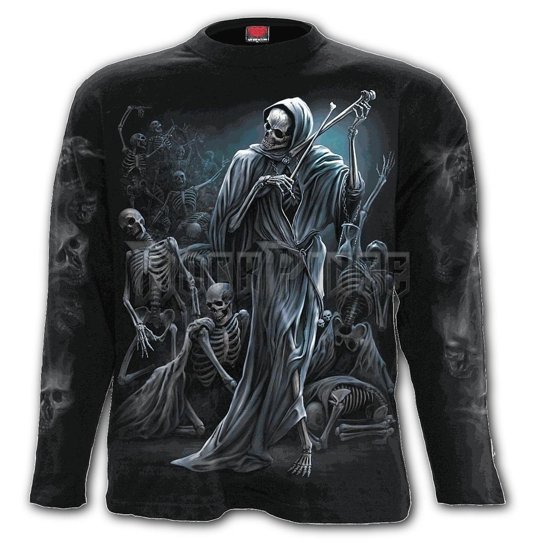 DANCE OF DEATH - Longsleeve T-Shirt Black (Plain) - K068M301