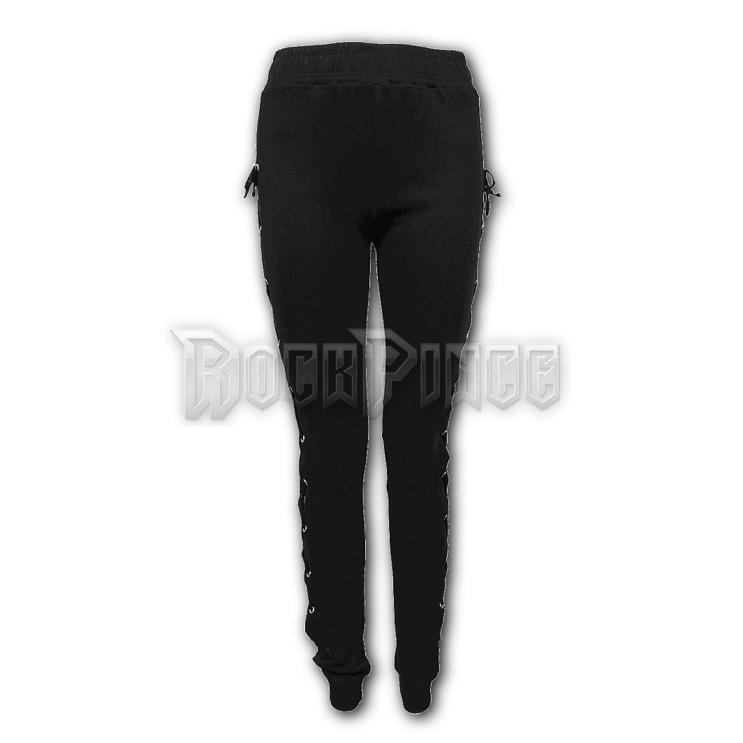 GOTHIC ROCK - High Waisted Side Lace Up Leggings - P002G462