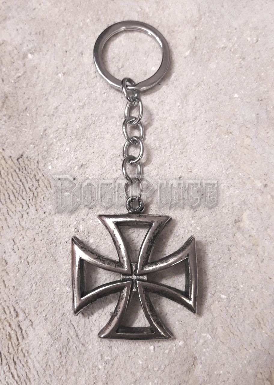 Hollow Maltese Iron Cross - kulcstartó