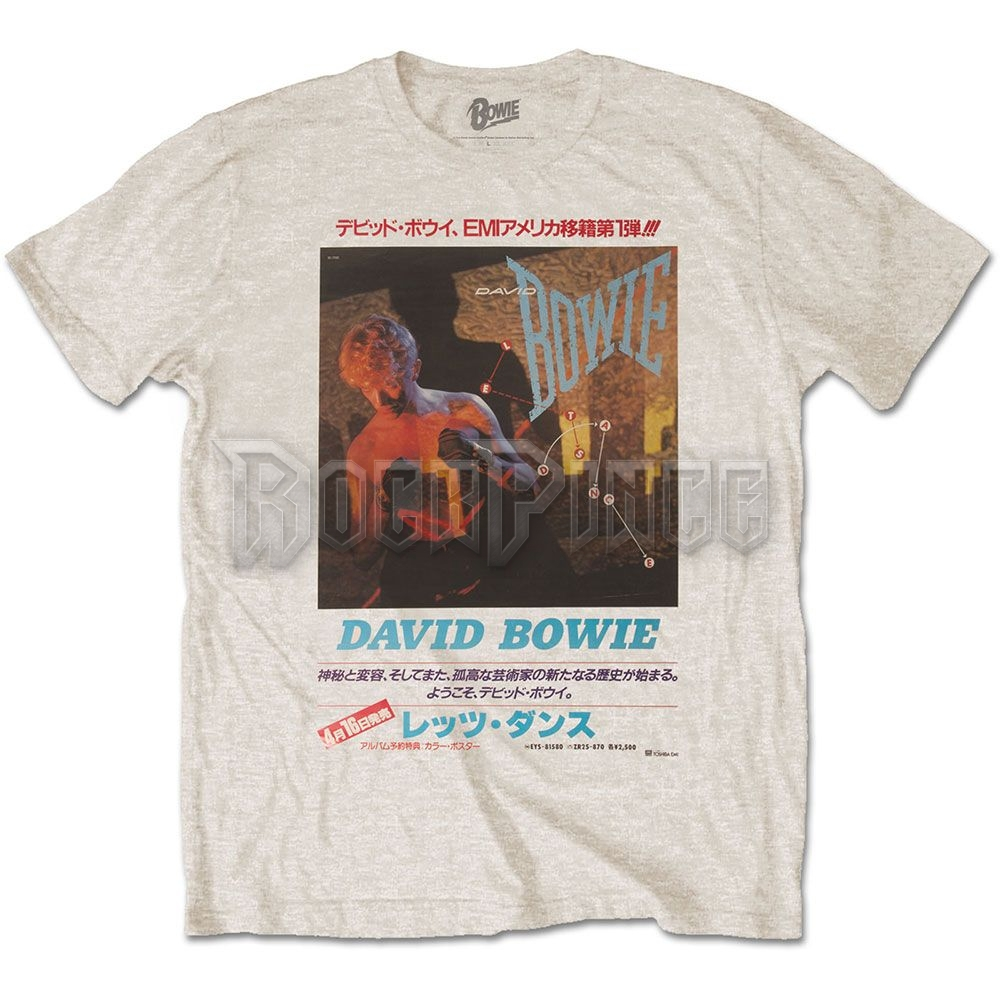 David Bowie Férfi póló: Japanese Text - BOWTS34MS