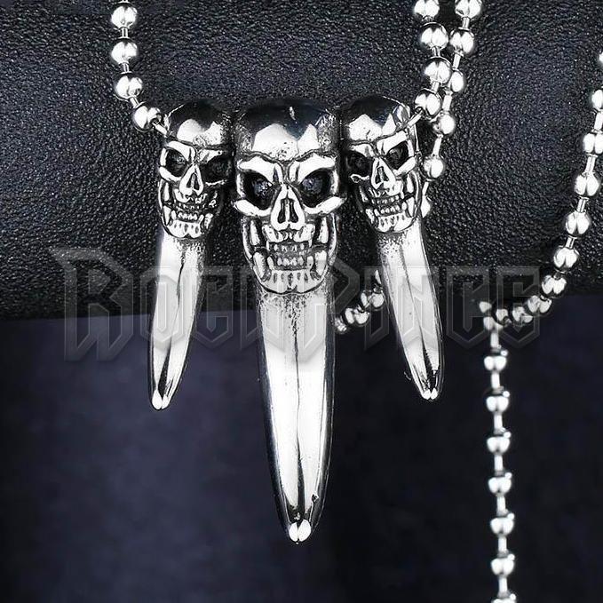 Skulls with Claws - acél medál