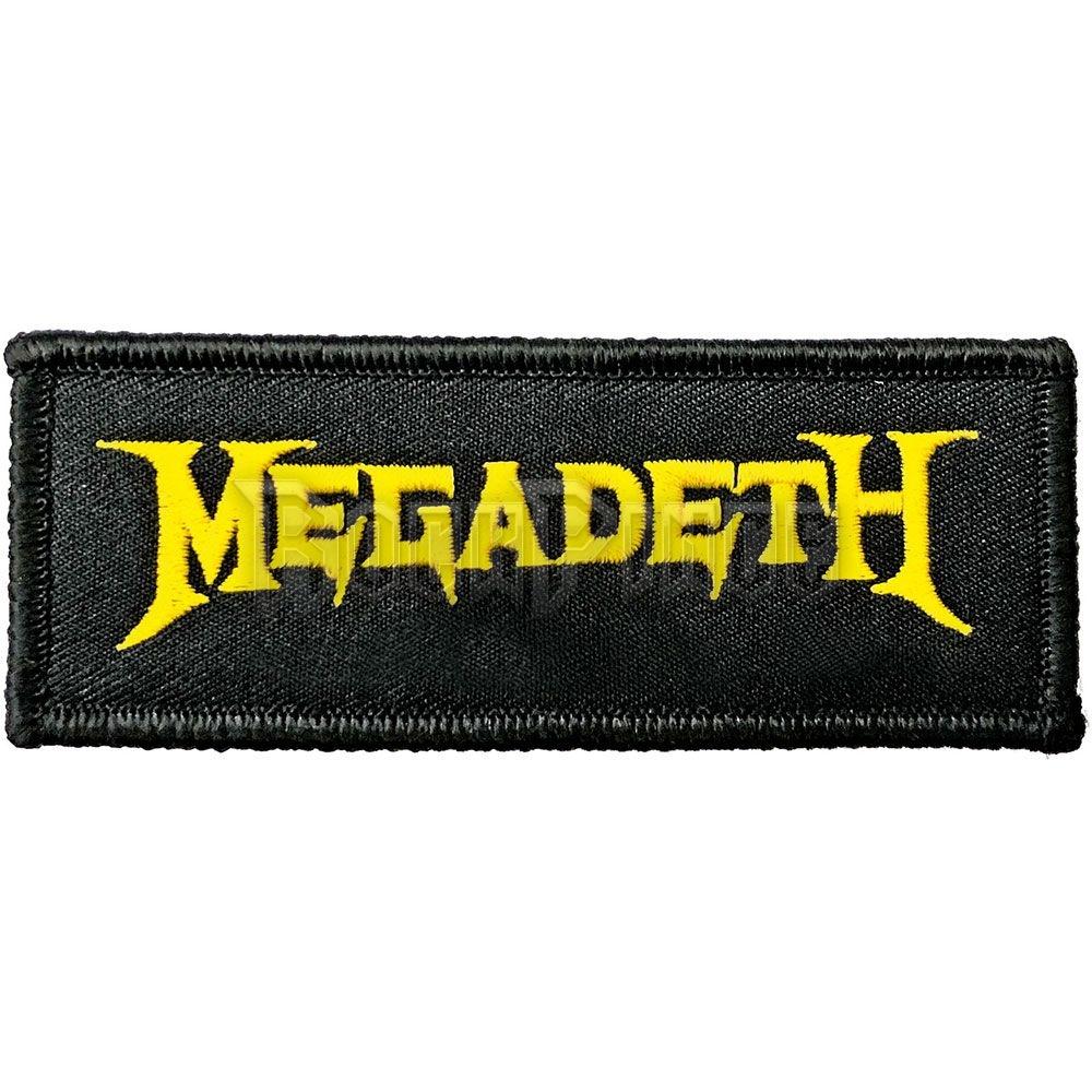 Megadeth - Logo Kisfelvarró / Folt - MEGAPAT01
