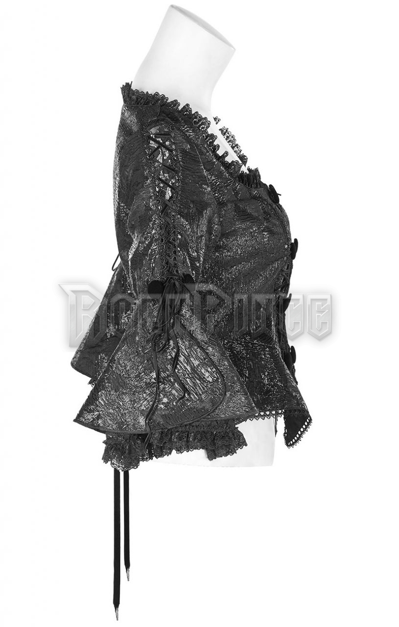 BAROQUE FLOWER - női kabát WY-1172/BK